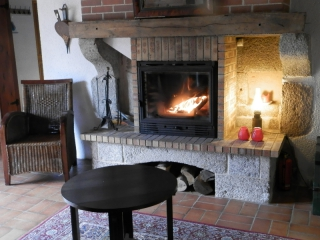 close up fire place